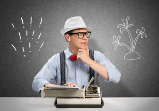 профессия копирайтер: за печатной машинкой