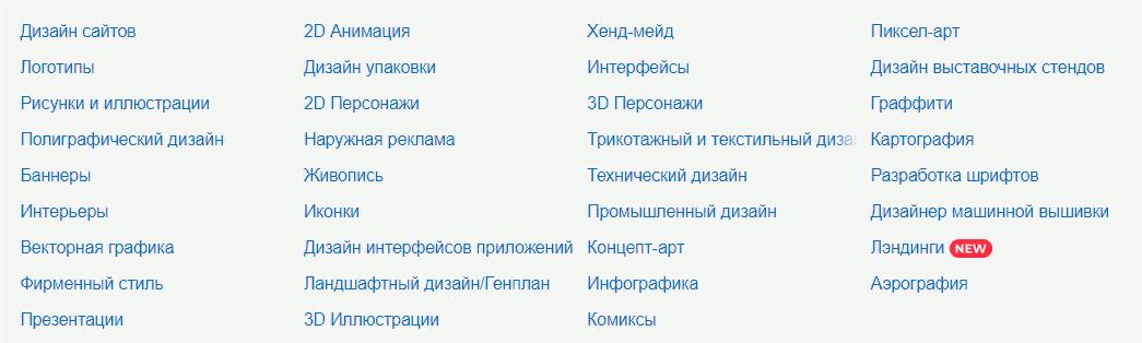 направления дизайна на fl.ru