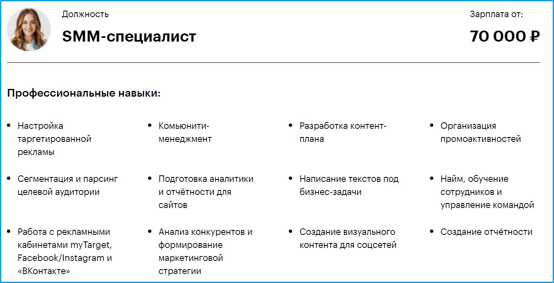 smm-специалист. профессиональные навыки