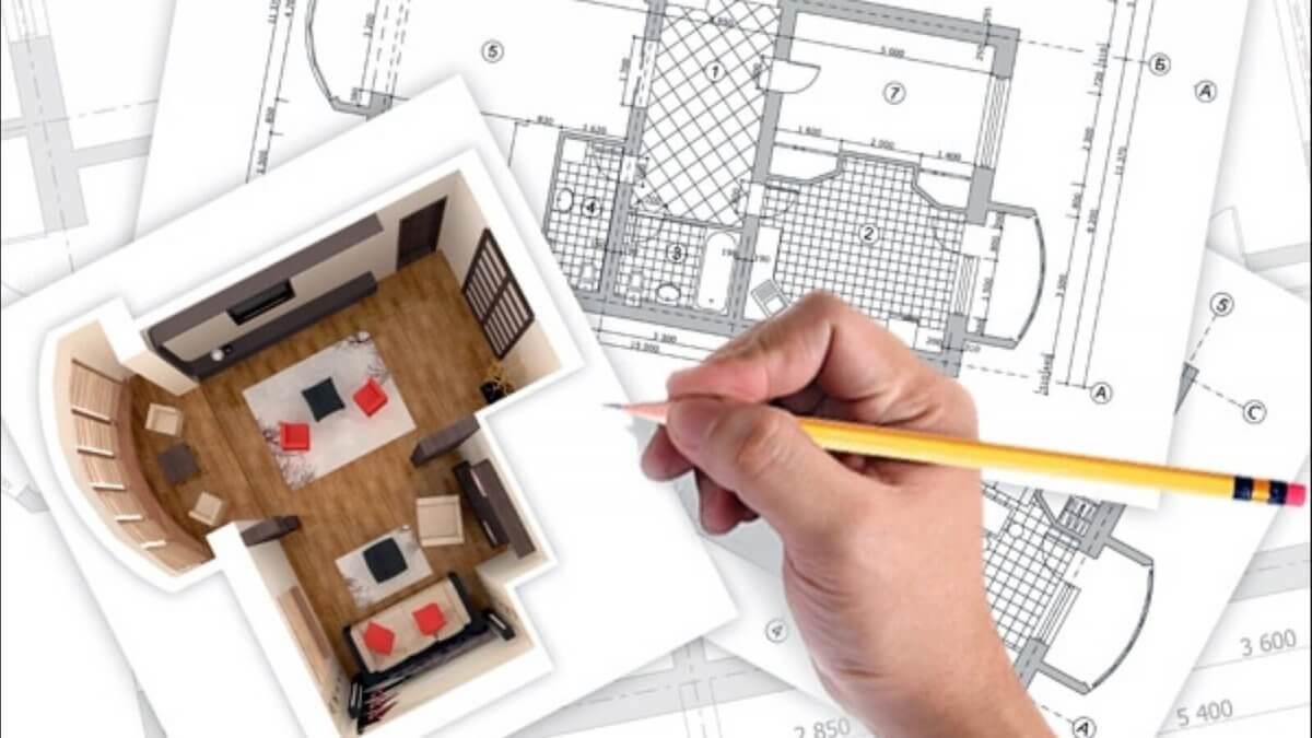 Модель интерьера комнаты